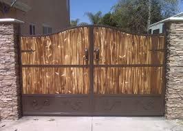 iron gates with wood11