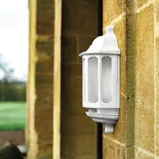 asd hi lo led half lantern outdoor wall light with dusk to dawn and pir