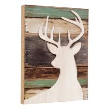 deer wood silhouette wall art