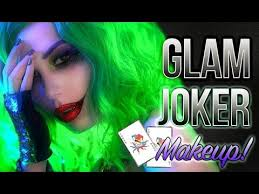 the joker glam halloween makeup