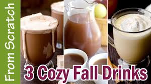 3 Warm Fall Drink Recipes Hot Chocolate Warm Pumpkin Pie drink.