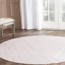 safavieh hand woven rag rug white multi cotton rug 4 white circle area rug