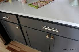 black cabinet pulls on gray cabinets. kitchen cabinet colors - before \u0026 after black pulls on gray cabinets a