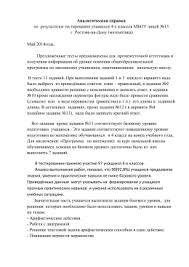 Итоговая контрольная работа по биологии для класса Итоговая контрольная работа по биологии для 5 класса Аналитическая справка Май 2014года