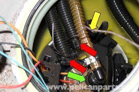 bmw e90 fuel pump replacement e91, e92, e93 pelican parts diy  at 2009 Bmw 335i Coupe Interior Fuse Box Location