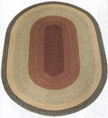 c 057 burdy gray cream oval braided rug 6x9
