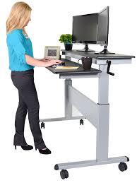 stand up desk 60 crank steel adjule sit to stand up desk