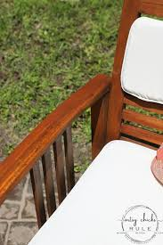 refinish outdoor wood furniture easy
