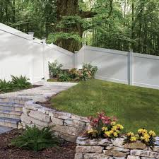 Fine Vinyl Privacy Fence Ideas W White Linden Pro In Inspiration Decorating