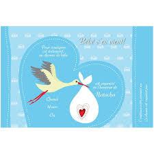 invitation personnalisée shower de bébé bleu
