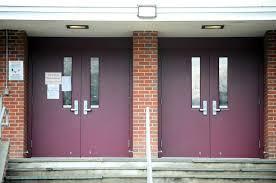 school front door. Fine Front The Secured Front Doors Of Dolan Middle School On Toms Road In Stamford  Conn And Front Door S