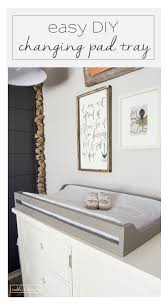 super easy way to make a changing pad tray tableandhearth