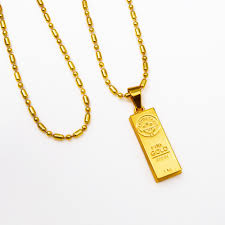 gold mens necklace pendants images