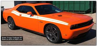 dodge challenger white stripes. header orange challenger dodge white stripes