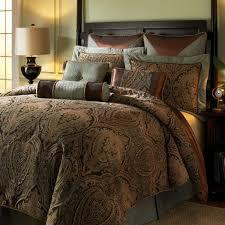 hampton hill canovia springs king size bed comforter set bed in a bag teal brown jacquard medallion damask 10 pieces bedding sets ultra soft
