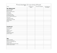 Storage Inventory Template Free Restaurant Inventory Spreadsheet