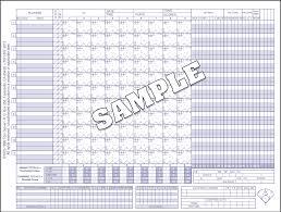 Glovers Baseball Softball Scoresheets