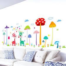 sports wall decals for nursery forest mushroom deer animals home wall art  mural decor kids babies . sports wall decals for nursery ...