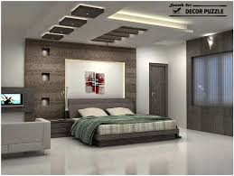 simple ceiling design for bedroom with fan wall