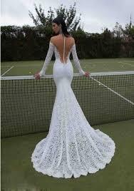 long sleeve sweetheart lace backless trumpet mermaid wedding dress