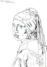 Van Gogh Self Portrait Coloring Pages Menotomyme