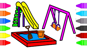 Playground Park Coloring Pages For Kids Coloring Book For Children