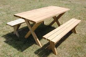 picture of a picnic table on grass diy diva