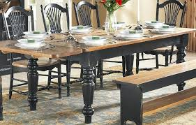farm house dining table farm table with 5 inch turned legs black base and stained pine top in natural round farmhouse dining table plans