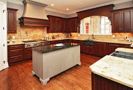traditional kitchen with solid wood cabinets soapstone island and granite countertops