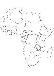 Kleurplaat Landkaarten Landkaart Afrika Landkaarten Africa