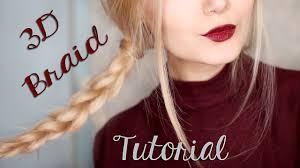 Braids Hairstyles Tumblr Easy 3d Braid Hair Tutorial For School Tumblr Inspired Youtube