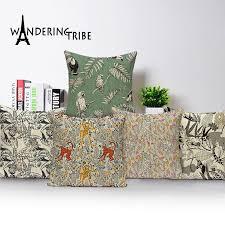 custom animal cushion cover green