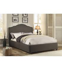 dark grey upholstered bed. Brilliant Upholstered Zaira Upholstered Bed  Dark Grey With N