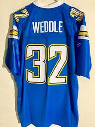 San Reebok Weddle Diego Alternate Sz 4x Jersey Chargers About Details Premier Nfl Blue Light