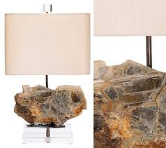 lighting treasures. brazilian mineral fragment table lamp by alchemy collection this specimen has such a nice sculptural lighting treasures g