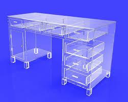 clear acrylic plexiglass executive desk hotel lobby boutique