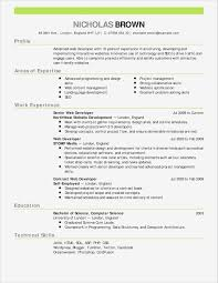 Modern Resume Format Unique Formal Cv Template Manqal Hellenes