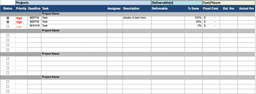 Excel Task Tracker Template Document Tracking System Excel Excel