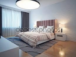 Camera Da Letto Beige E Marrone : Interno camera da letto moderna tonalità chiare ? foto stock