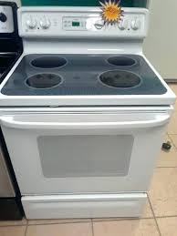 glass top stove white stoves cleaner