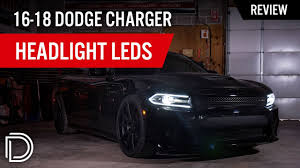 Dodge Charger Lights Hi Lo Beam Led Headlight For 2016 2019 Dodge Charger Pair