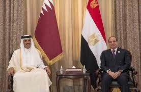 سمو الأمير يلتقي الرئيس المصري