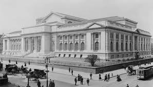 new york public library the new york public library main building during late stage construction in 1908 the lion statues not yet installed at the entrance