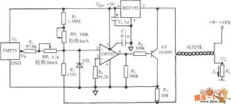 4~20ma temperature transmitter circuit diagram composed of tmp35 4-20ma pressure transducer wiring diagram 4~20ma temperature transmitter circuit diagram composed of tmp35