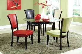 Dining Chairs Colorful Upholstered Dining Chairs Espresso Color