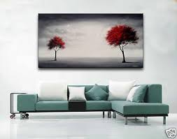 2018 handmade red black trees landscape modern abstract wall art large canvas art cheap painting oil picture living room home decor from dorapainting  on large canvas wall art trees with 2018 handmade red black trees landscape modern abstract wall art