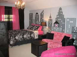 Pink Black And White Bedroom Pink Color In Girls And Teenage Bedroom With Bedstead Also White