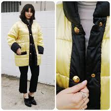 Designer Puffer Coats Women S Clothing Vintage Designer Escada Puffer Jacket Coat Puffer Gold Black