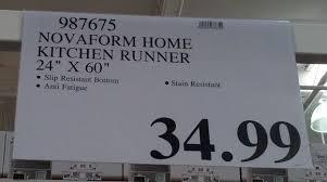 kitchen mats costco.  Mats Deal For The Novaform Home AntiFatigue Kitchen Runner Mat At Costco Inside Mats C