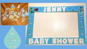 simple baby shower photo booth frame baby boy